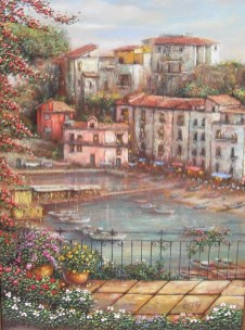 """Portofino"" 40x30 in. oil/canvas"