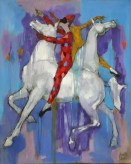 """Equestrian Ballet"" 60x48 inch oil on linen"