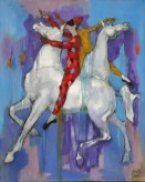 """Equestrian Ballet"" 60x48 inch oil on linen"
