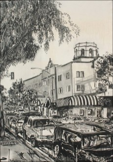 """""""Laguna Streets #1"""" 66x46 in. ink, acrylic on canvas by Brooke Harker"""