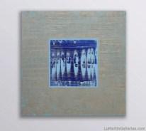 """Mystic Layers - Azul"" 36x36 in. acrylic/canvas"