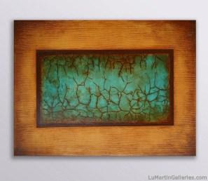 """Amber Meditations #2"" 36x48 in. acrylic/canvas"
