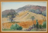"""Laguna Canyon (Laguna Beach, California"" 15x22 in. watercolor by Arthur G. Rider"