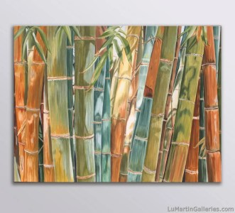 """Big Bamboo"" 30x40 inch oil on canvas"