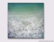 """Effervescence"" 30x30 inch acrylic, sand, resin on panel"