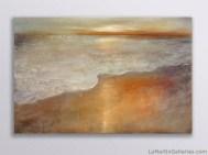 """Sunset"" 40x60 inch acrylic, sand, resin on panel"