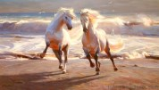 """SOLD """"Together"""" 40x70 in. oil/canvas by Ruo Li (SOLD)"""