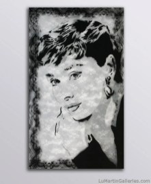 """""""Audrey"""" 36x24 in. acrylic on canvas"""