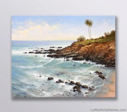 """""""Rockpile Beach"""" 16x20 inch oil on gallery wrap canvas"""