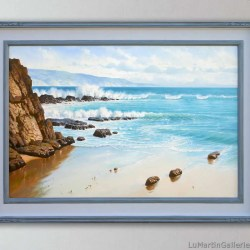 24x36 inch seascape oil painting by alfredo gomez