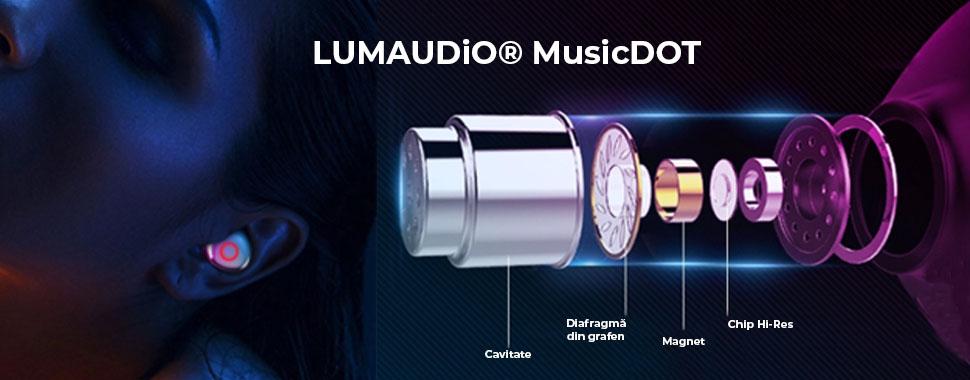 Casti bluetooth Lumaudio MusicDOT