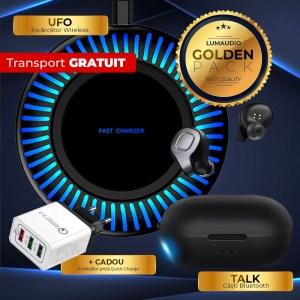 Pachet promotional casti bluetooth incarcator wireless