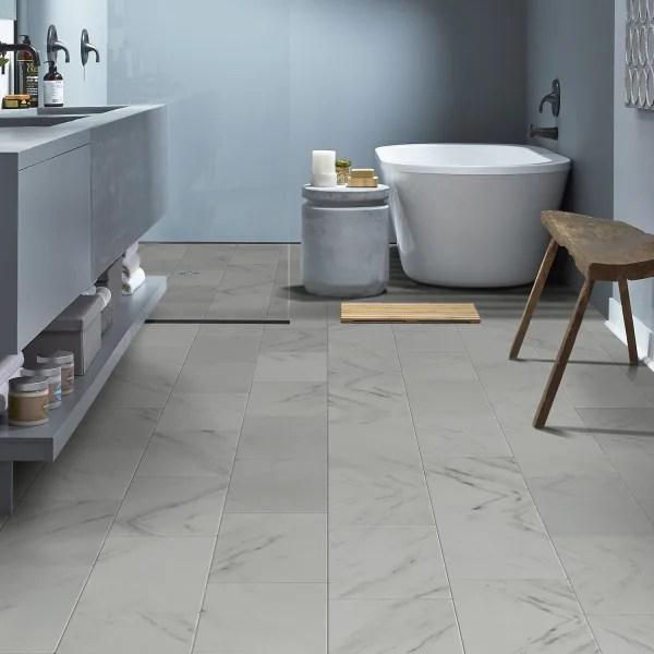 3mm white marble luxury vinyl plank flooring 12 in wide x 24 in long