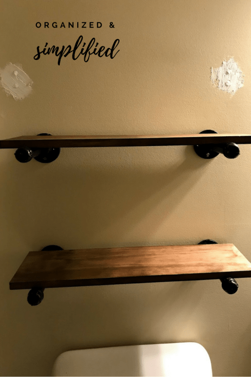 2 pipe shelves