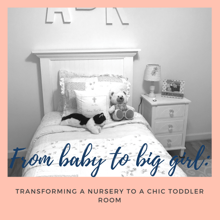 From baby to big girl: transforming a nursery to a chic toddler room