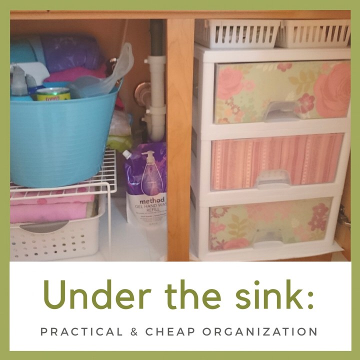 Under the sink: practical and cheap organization