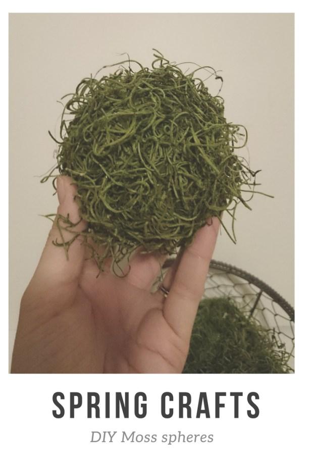 Spring And Summer Crafts Diy Moss Spheres Lumber In My Minivan
