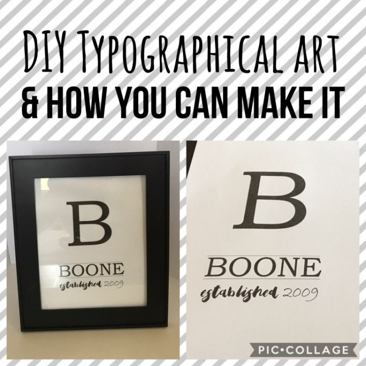 DIY Typographical art and how you can makeit!