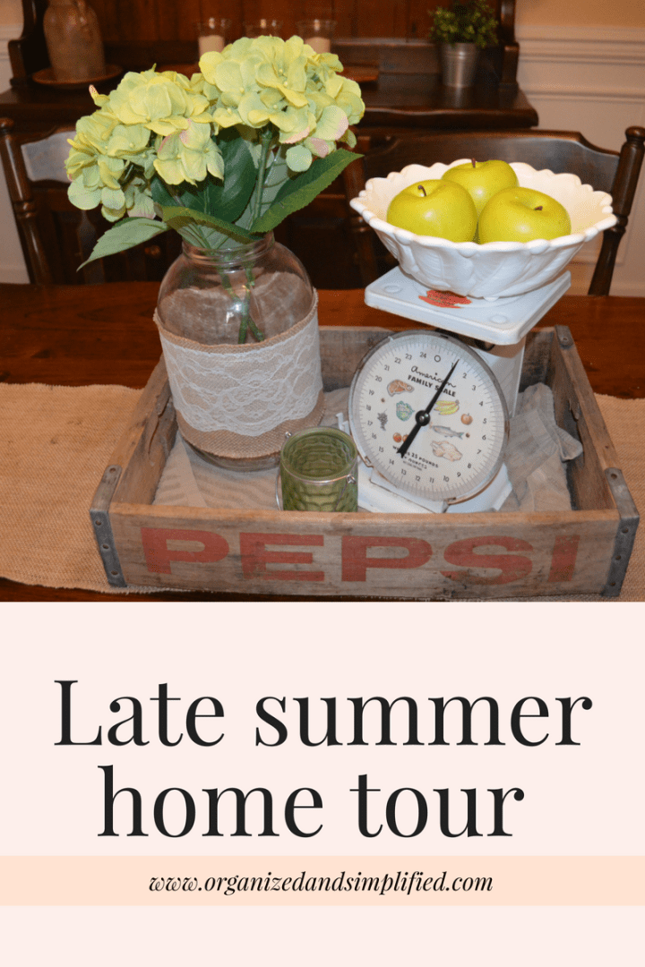 Late summer home tour