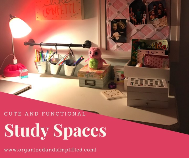 Cute and Functional Study Spaces