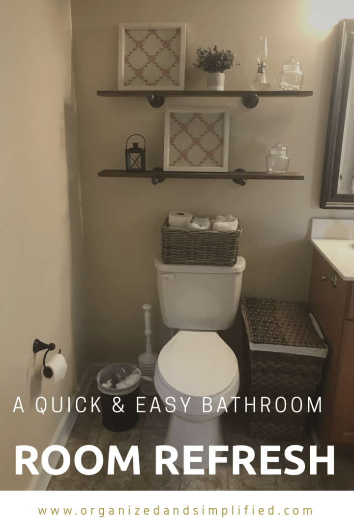 A quick and easy bathroom room refresh
