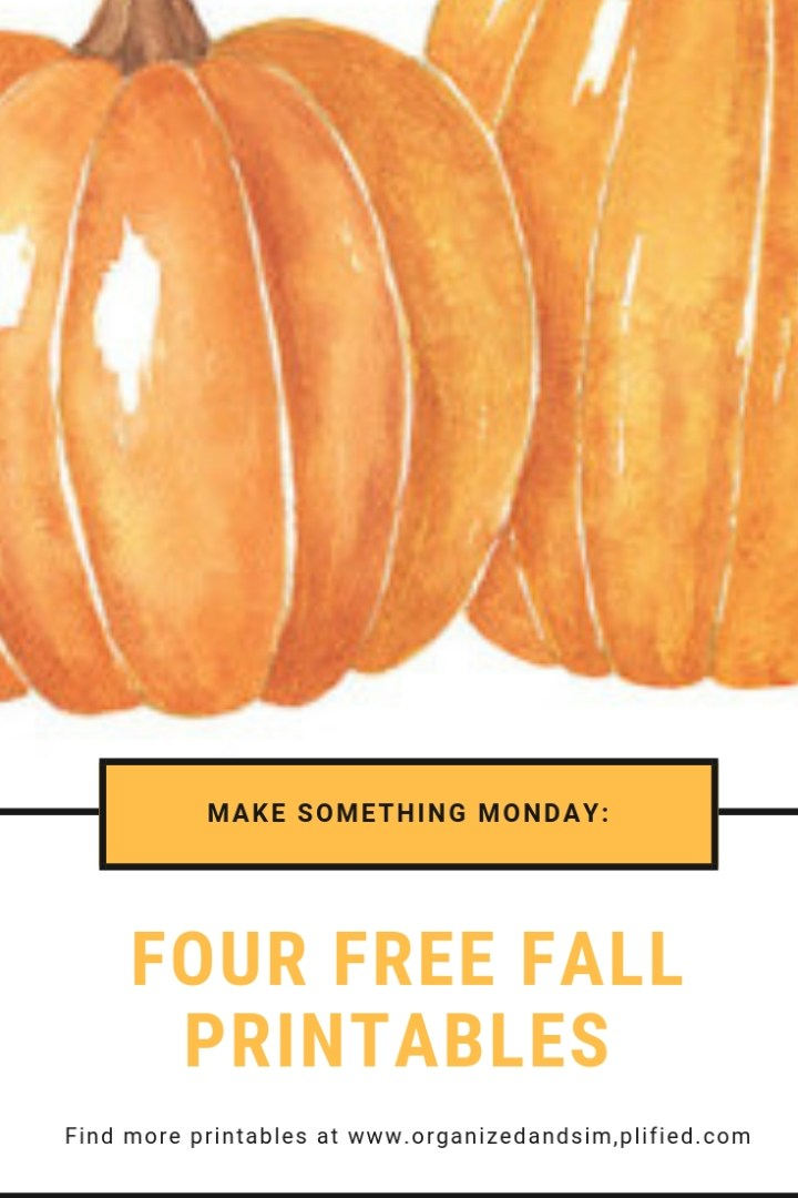 Make it Monday: Free Fall Printables
