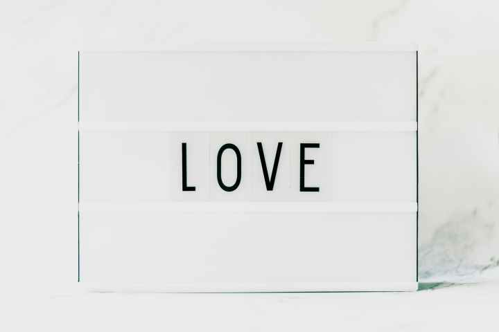 black love text on white background