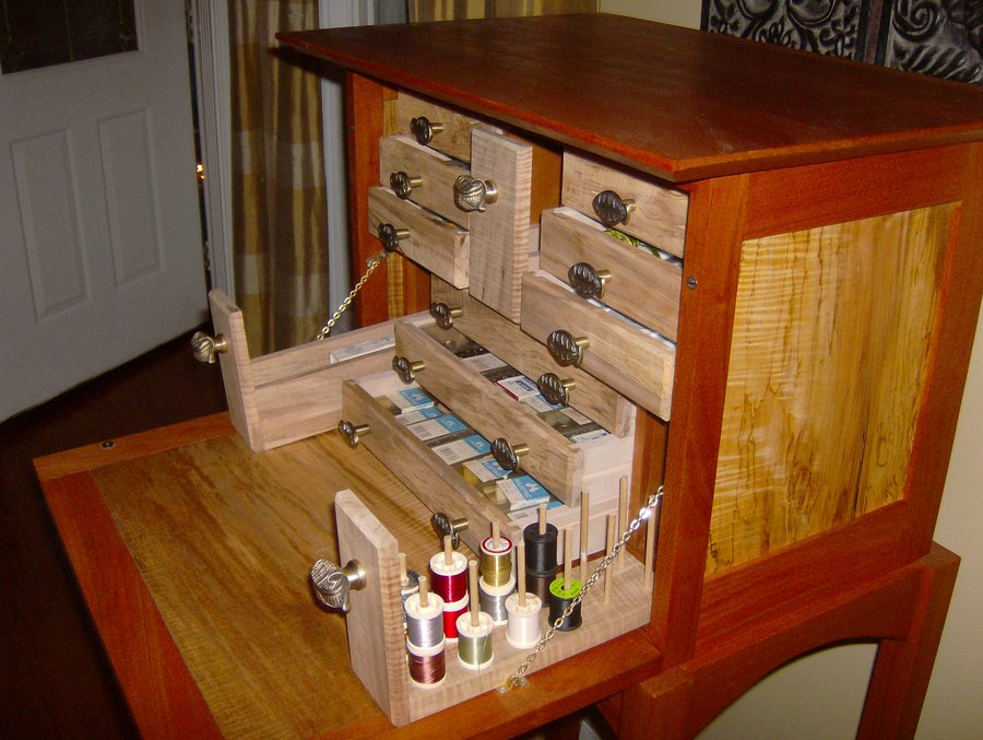 Creative Now That Youve Been Tying A While, You Probably Find You Like Certain Things To Be In Certain Places Now Design A Bench Around That Thats What I Did For My First Tying Station I Took Some 1x124 White Laminate Shelving Material From Lowes