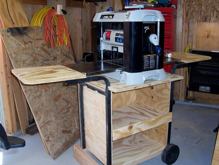 Recycled Mobile Planer Stand By Nmkidd Lumberjocks Com