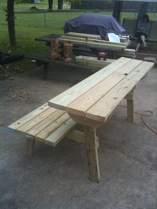 Woodwork Picnic Table Bench Combo Plan Pdf Plans