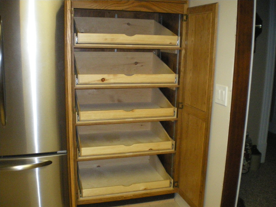Full Extension Pull-Out Pantry Shelves For A Friend