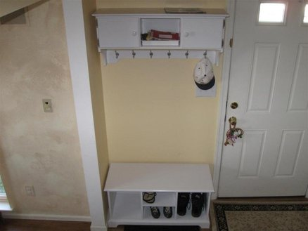 hall coat rack bench plans