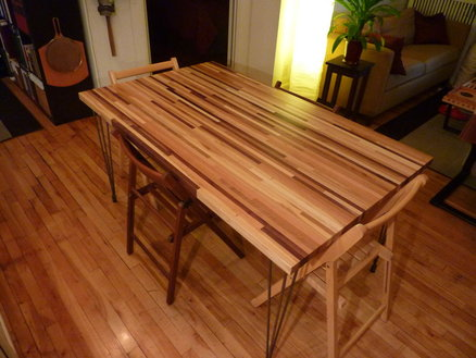 Butcher Block Dining Table