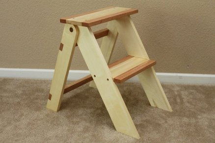 folding wooden step stool plan