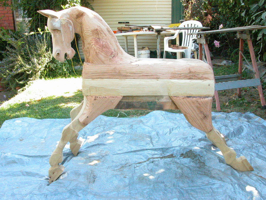 First Rocking Horse By Milton Toal