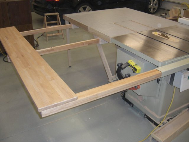 ... Table Saw Extension Wing - by screwge @ LumberJocks.com ~ woodworking