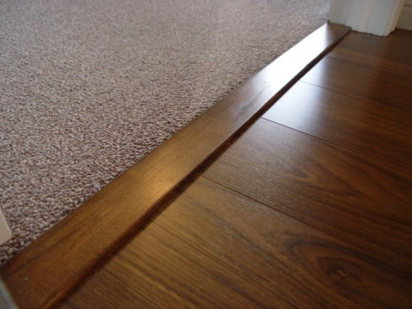 DIY Laminate Flooring Transition Pieces DIY Woodworking - Carpet To Wood Floor Strip - How To Install Carpet Threshold
