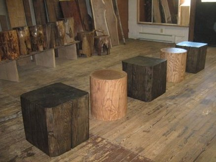 Solid Wood Cube Amp Cylinder Accent Tables By TexPenn