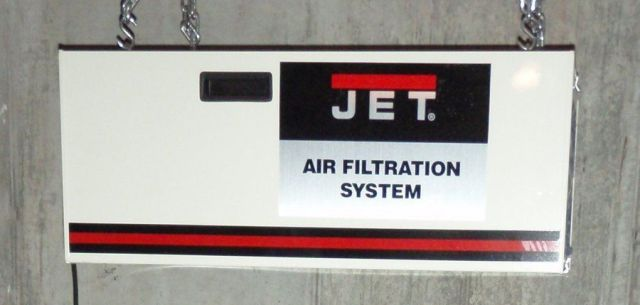 JET AFS-1000B 1000 CFM Air Filtration System, 3-Speed, with Remote ...