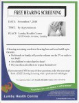 Hearing Screening Clinic