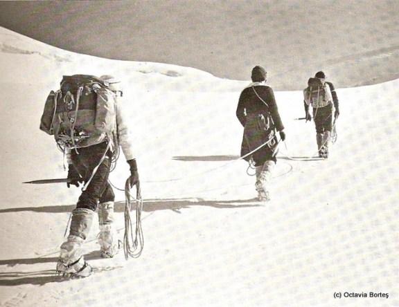 Mers pe ghețar în anii '70
