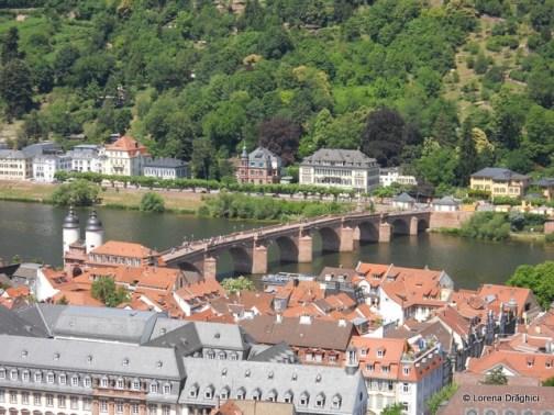Podul vechi vazut de la castel