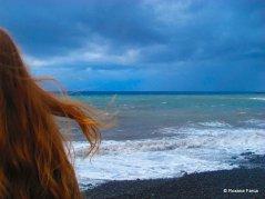 Vivid colors pe plaja neagra