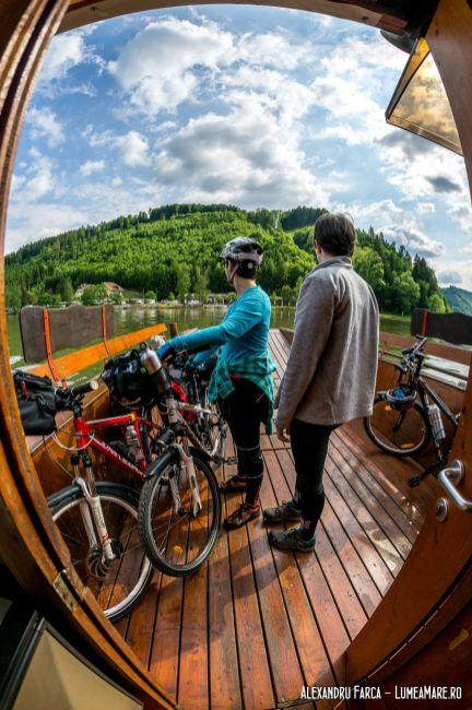 Taxi boat pentru bicicliști, pe Donauradweg