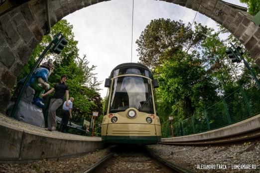 Tramvaiul istoric Pöstlingberg - stația de sosire