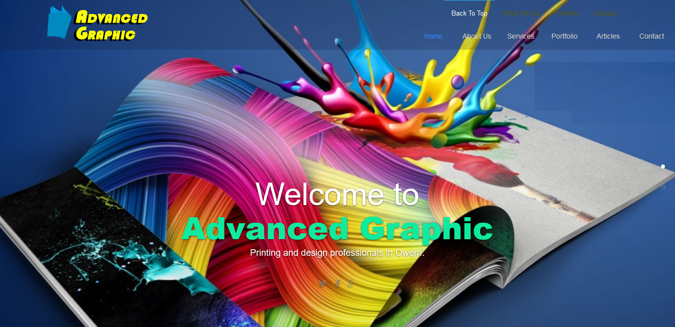web design project for a digital printing agency