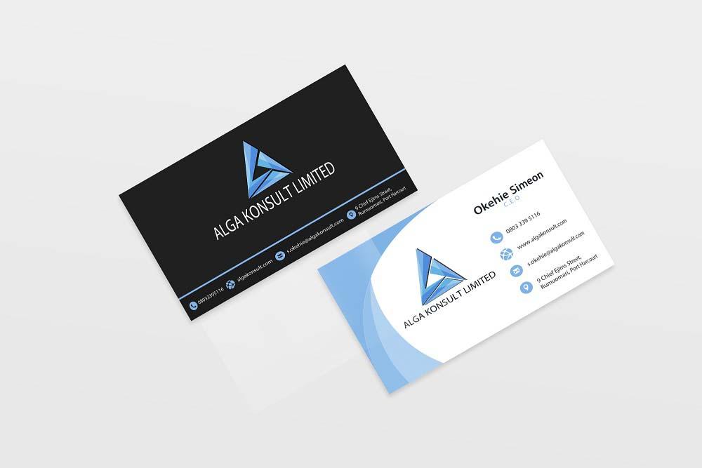 Corporate brand identity creation project for Alga Konsult Ltd.