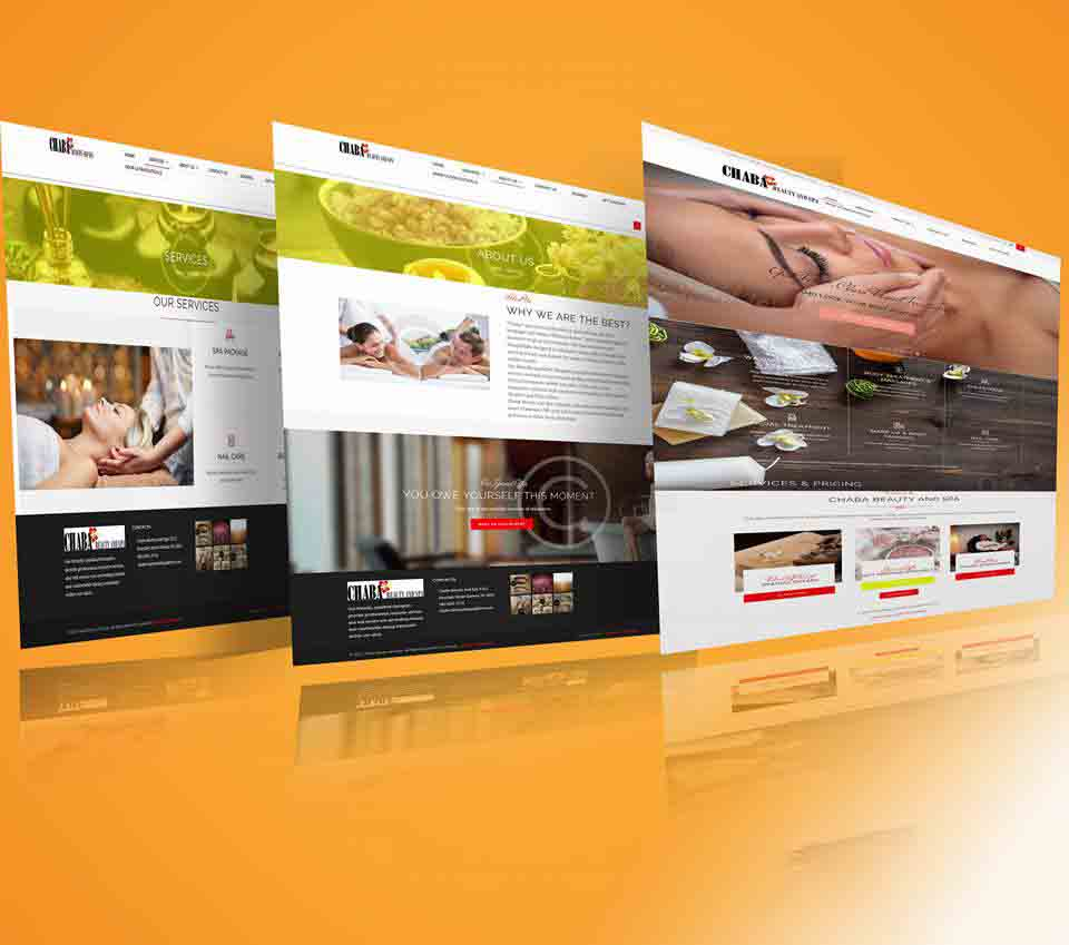webdesign project for Chaba Beauty and Spa