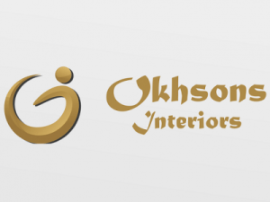 web design and corporate branding forOkhsons Interiors.