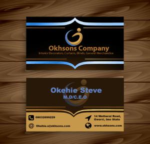 business card design for Okhsons